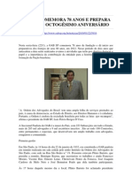 OAB SP COMEMORA 78 ANOS E PREPARA FESTA DO OCTOGÉSIMO ANIVERSÁRIO