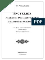 Pascendi Dominici Gregis, Św. Pius X