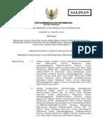 Permenkominfo 31 Tahun 2014 - Masterplan Frekuensi TV Analog
