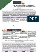 Matriz Diversificacion Curricular Anual Quinto 2015