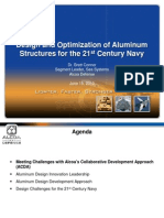 061510 Design and Optimization of Aluminum Structures for the 21st Century Navy Conner