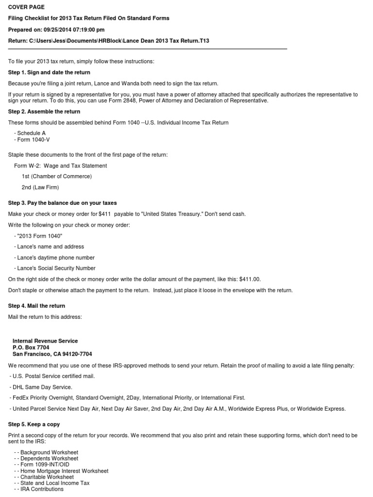 Uncategorized 1040ez Worksheet Line F lance dean 2013 tax return t13 for records irs forms income in the united states