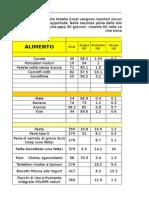 16-Calcolo Calorie e Valori Nutrizionali Degli Alimenti