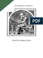 Lgb1 Plan de Trabajo Lengua 2015