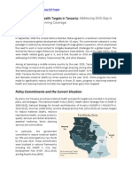 Policy Brief on Attaining Maternal and Child Health, Call for 5 Billion for FP in Tanzania
