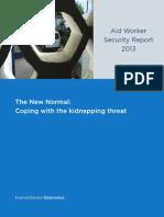 AidWorkerSecurityReport 2013 Web