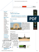 Places to Visit in Delhi and Tourist Destinations Near Delhi
