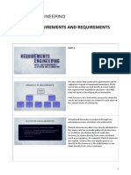 4 - Requirements and Requirements Engineering