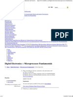 Microprocessor Fundamentals - Digital Electronics Questions and Answers Page 5