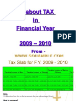 All About TAX in Financial Year 2009