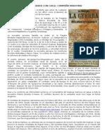 Lectura - GUERRA CON CHILE - Campaña Maritima