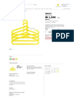 SPRUTT Clothes-hanger - Yellow - IKEA
