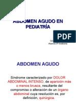 Abdomen Agudo en Pediatría