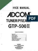 Adcom GTP-500II Service Manual