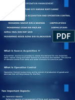 source acquistion and operation control
