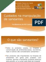 Cuidados Na Utilização de Produtos Saneantes Ppt Versão1