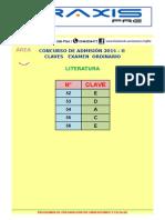 Claves Area b Ordinario 2015 - II Literatura