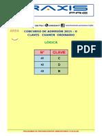 Claves Area b Ordinario 2015 - II Lógica