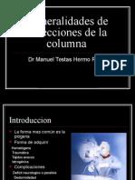 Generalidades de Infecciones de La Columna