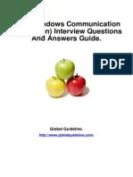 WCF (Windows Communication Foundation) Job Interview Preparation Guide