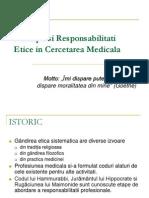 9. Principii Etice in Cercetarea Medicala