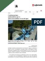 La Jornada- Condenan Grupos Ambientalistas Que Se Quiera Mercantilizar El Uso Del Agua