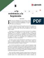 La Jornada- De La Resistencia a La Hegemonía