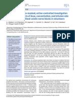 Continuous Popliteal-sciatic Nerve Blocks in Volunteers - Madison2014