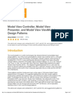 Model View Controller, Model View Presenter, And Model View ViewModel Design Patterns - CodeProject