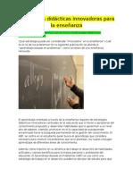 Estrategias Didácticas Innovadoras Para La Enseñanza de Ciencias n