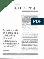 Fraser - La Justicia Social en La Época de La Política de La Identidad