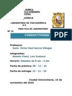 Informe N°13 Conductividad