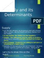 supply and its determinants