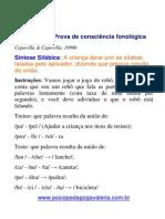 9 - Prova de Consciencia Fonologica