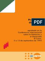 Programa de Acción Sobre La Población de La CIPD Aprobado 1994 Por 179 Gobiernos