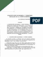 Constitución Económica y Derechos Sociales.
