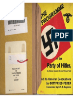 Feder, Gottfried - The Programme of the Party of Adolf Hitler - NSDAP (1932, 32 p., Scan)