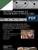 Metode Moderne de Organizare a Producţiei