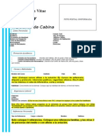 Formato de Curriculo Para Tripulantes de Cabina.