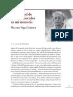 50 Años de La Facultad de Ciencias Sociales - Maximo-Vega-Centeno