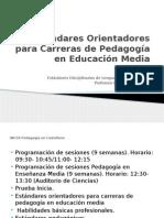 Estándares Orientadores Para Carreras de Pedagogía en Educación