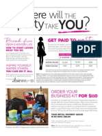 Tupperware Recruiting Flyer 2015 Canada