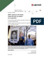 La Jornada- HRW- Gobiernos Del Mundo Violan Derechos en Nombre de La Seguridad