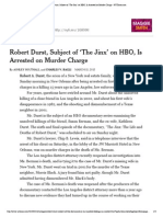 Robert Durst, Subject of 'the Jinx' on HBO, Is Arrested on Murder Charge - NYTimes