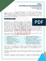 FORO I - Factores de Una Negociacion Nov-2014 Por CRS
