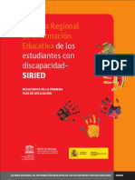 SIRIED Resultados Primera Fase Aplicacion Unesco