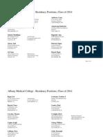 2014 Match List