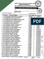 Resultados Del Exámen de Admisión Modalidad CPU 2015 Enero-Marzo