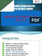 Matriz de Evaluación Del Pci 1