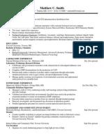 Sample Resume Chemistry